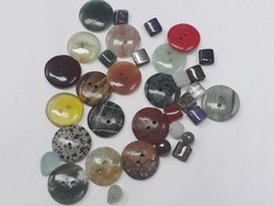 Mix Natural Gemstones Button Calibrated Customize Size & Square Shape