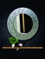 Round Glass V.Grooving Mirror