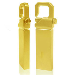 Gold Pendrive with Key lock