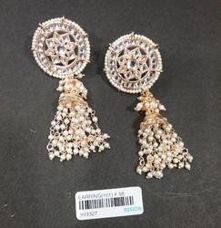 Kundan Stud Jhumka Earrings
