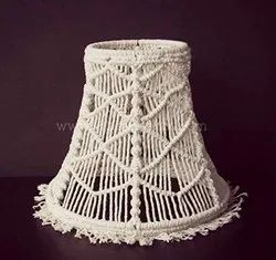 Macrame Table Lamp Shade