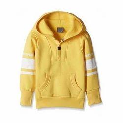 Yellow Cotton Kids Hoodies