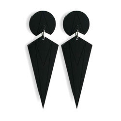 Ladies Black onyx Stone Earring