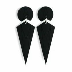 Ladies Black onyx Stone Earring