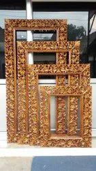 Carving Wooden Wood Carved Mirror Frame, For home, gift and decoration