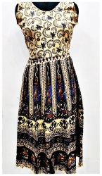 Ethnic Wear Brown Cotton Midi, Size: Free size