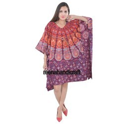 Indian Badmedi Kaftan Mandala Women Dress