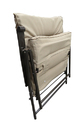 Folding Reclining Chair-Padded-Beige