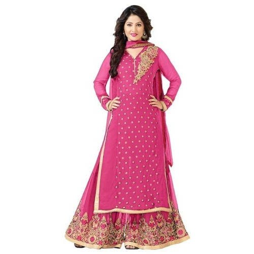 bc045f0216 Chiffon Stitched Ladies Designer Palazzo Suit, Machine Wash, Rs 499 ...