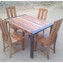 Used Wood 4 Seat Dining Table With Chair