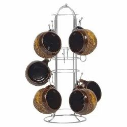 Parasnath Prime Stainless Steel Round Cup Stand 12 Cups Holder