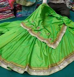 Alankar Creations Zari Handwork Silk Saree,  6.3 M (with Blouse Piece)