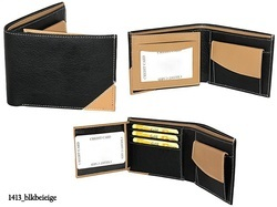 Black And Tan PU Leather Artificial Leather Mens Wallet