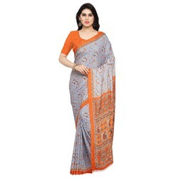 Attractive Printed Crepe Silk Saree