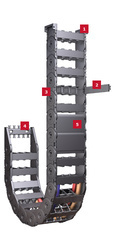 ELECTRICAL HOIST CRANE PVC CABLE CARRIERS