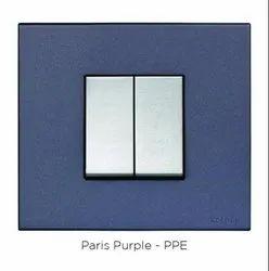 Square Kara Matt Metallic Paris Purple Switch Frame
