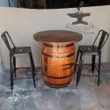 95 Cm Bottels Barrel Bar Table Set, For Furniture And Decoration, Seating Capacity: Two Seater
