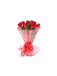 Bunch Of 14 Red Roses Packed