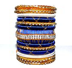 Colorful Wrapped Fabric Bangle Silk Thread Bangles