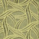 52 x 90 Inch Circle Lace Yellow Sheer Curtain