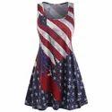 American Flag Racerback Tank Dress