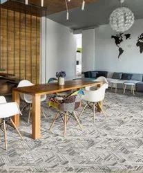 Multicolor Printed Nylon WTW Carpet
