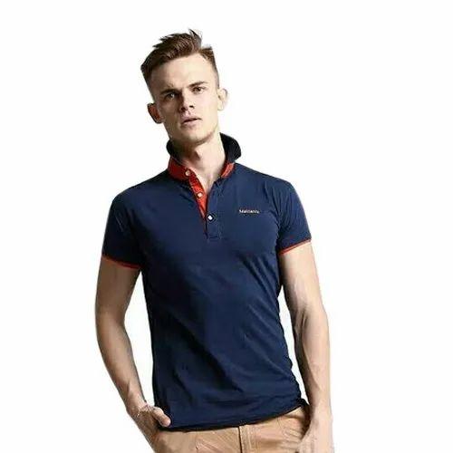 Men's Collar Neck Cotton T Shirt