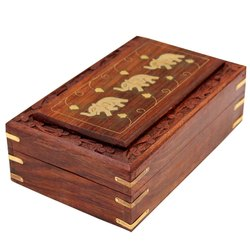 手工大象木珠宝盒为妇女珠宝组织者手雕刻雕刻礼品