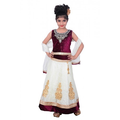 3ff8139370dfd7 Parijat Handicraft Multi Color kids dresses baby clothing designer  embroidered lehenga choli 3 - 4 years
