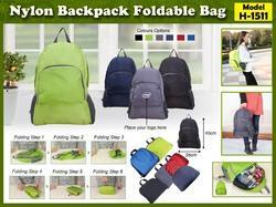Nylon Backpack Fordable Bag H-1511
