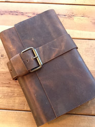 Suede Leather Journal With Belt Buckle