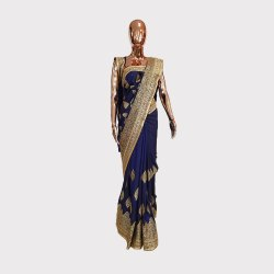 Blue Allover Work Designer Saree