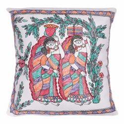 Silk Cushion Cover Madhubani Painting Services