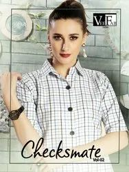 CHECKSMATE VOL-2 STYLISH COTTON LONG KURTIS