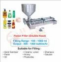Hand Sanitizer Filling Machine (Double Head) / Piston Filler Double Head