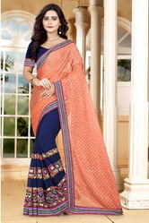 Riva Enterprise Women's Lycra Pallu  Fashion Saree