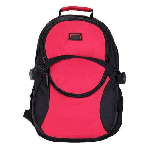 79032dfcbd5 Polyester Pink And Black Boys College Bag, Rs 180 /piece | ID ...