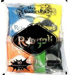 Rangoli 50 Gram Pouch ( 10 Mix Colors )