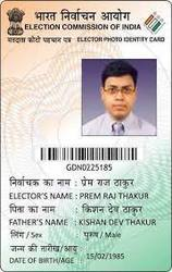 Election PVC Card