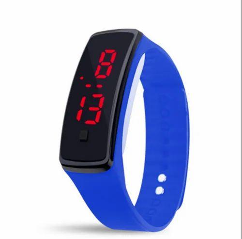 Blue LED Band Kids Digital Watch, Rs 21 /piece Shivangi Times | ID:  20640658573