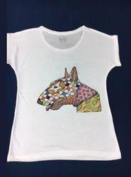 Ladies Dog Print Top