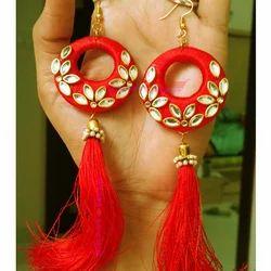 Artificial Thread Earrings