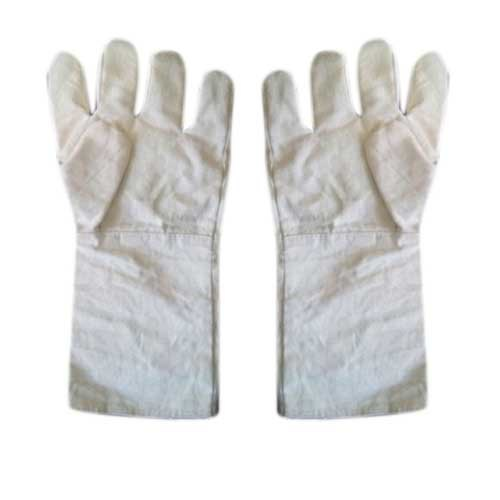 White Cotton Safety Hand Gloves