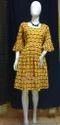 Yellow Casual Printed Cotton Garments (tunic)