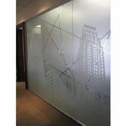 Sandblasted Glass, For Partition