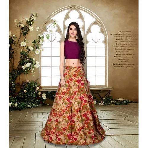 5cd30e9a2f129 Women Designer Crop Top   Long Skirt
