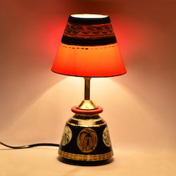 Terracotta lamp shade manufacturers suppliers traders madhubani handpainted table lamp in terracotta aloadofball Image collections