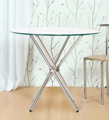 Cross Leg Table Stand with Glass