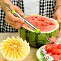 2 in 1 Melon Baller, Stainless Steel Multifunctional Dig Scoop with Fruit Carving Knife