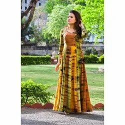 Ladies Multi Color Long Cotton Kurti